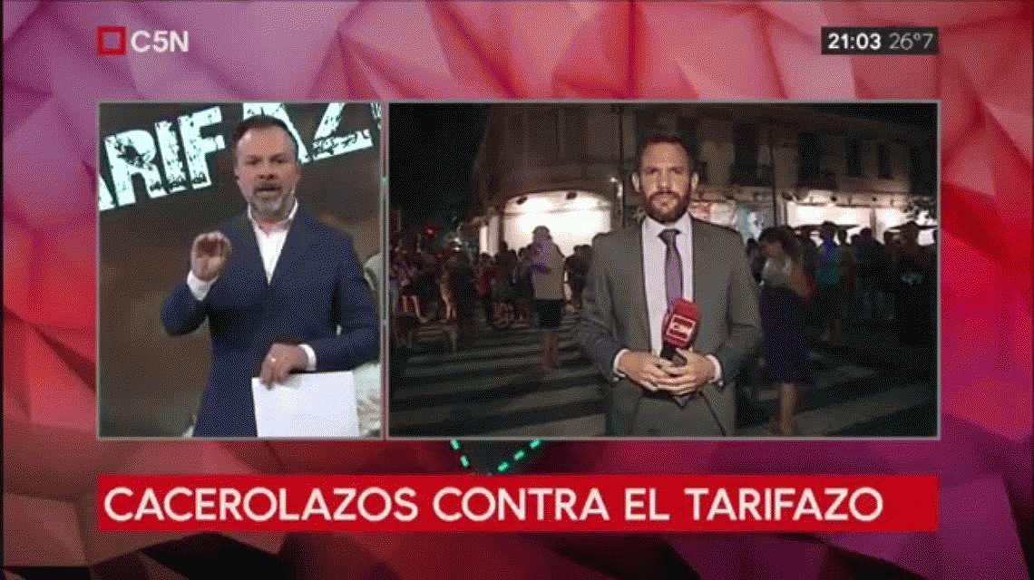 Cacerolazo contra el gobierno de  Macri tras el anuncio de un nuevo tarifazo