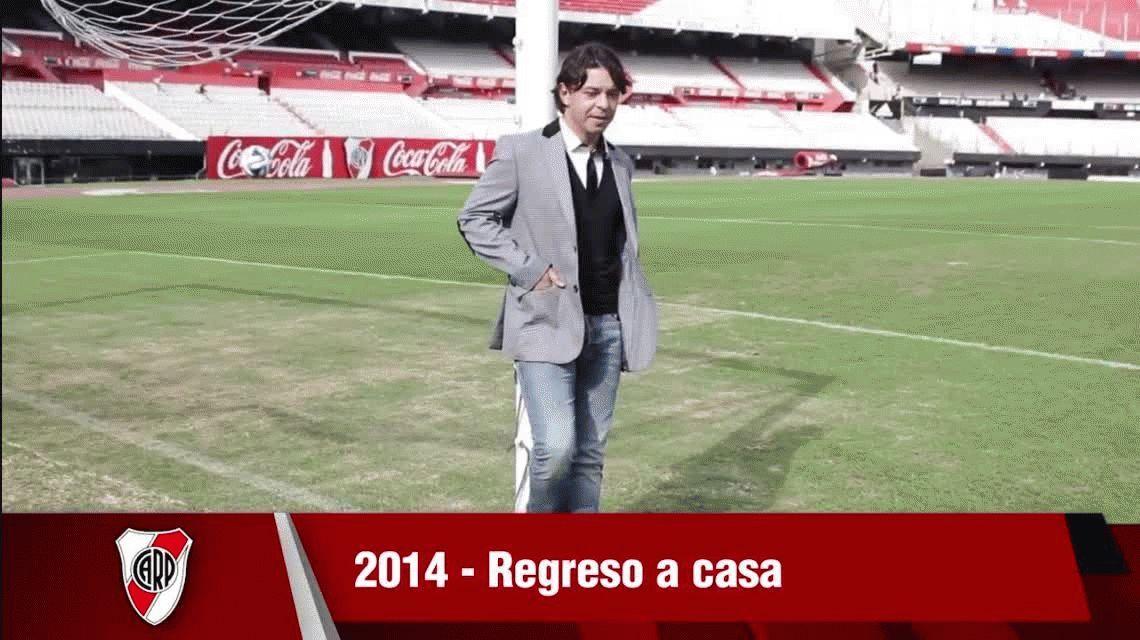 VIDEO: El emotivo homenaje de River a Gallardo en un año glorioso para el club