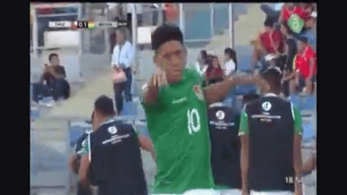 El particular festejo de un jugador del Sub 20 boliviano que reinvindicó Evo Morales