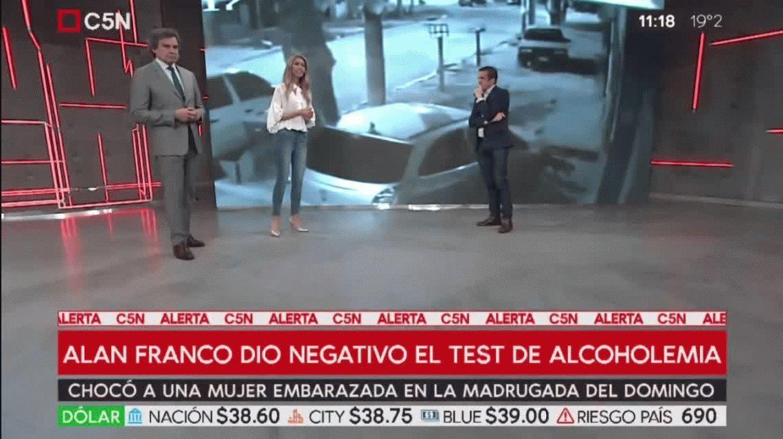 Dio negativo el test de alcoholemia a Alan Franco, el jugador que chocó a una embarazada