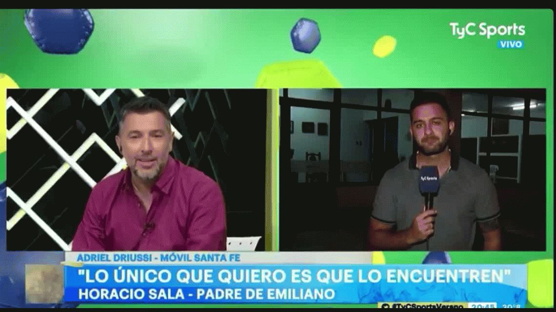 El insólito furcio en vivo durante un móvil en la casa de la familia de Emiliano Sala