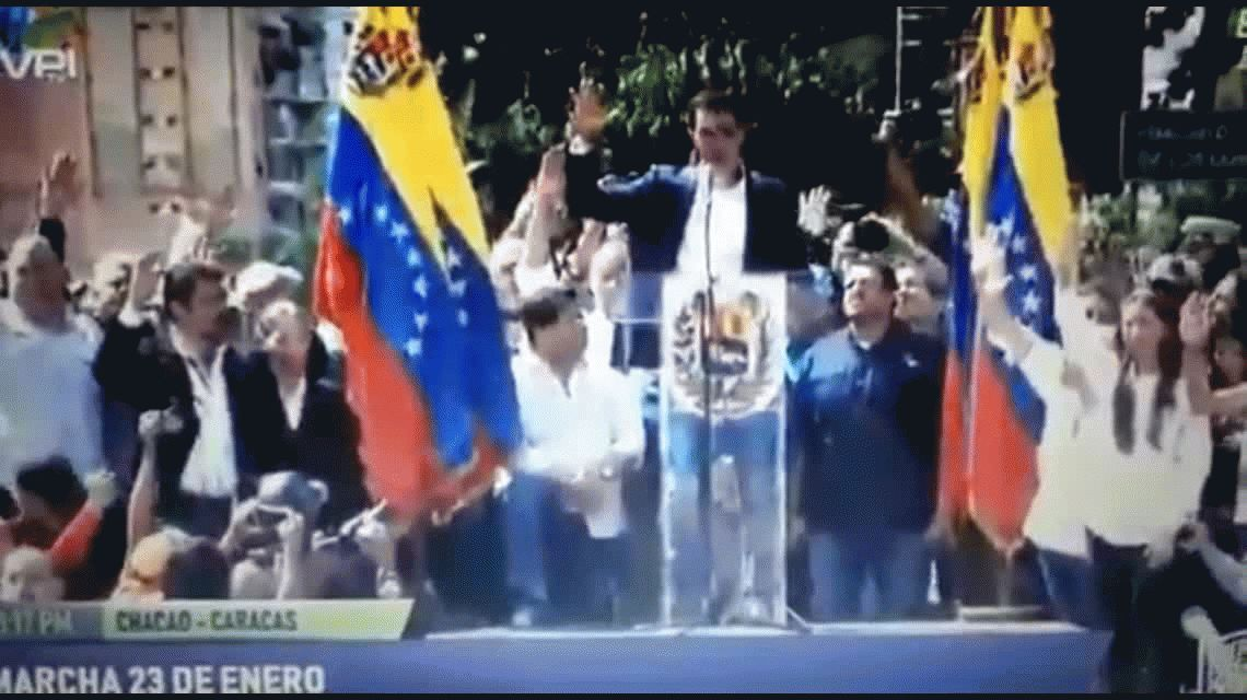 Juan Guaidó se autoproclamó presidente de Venezuela