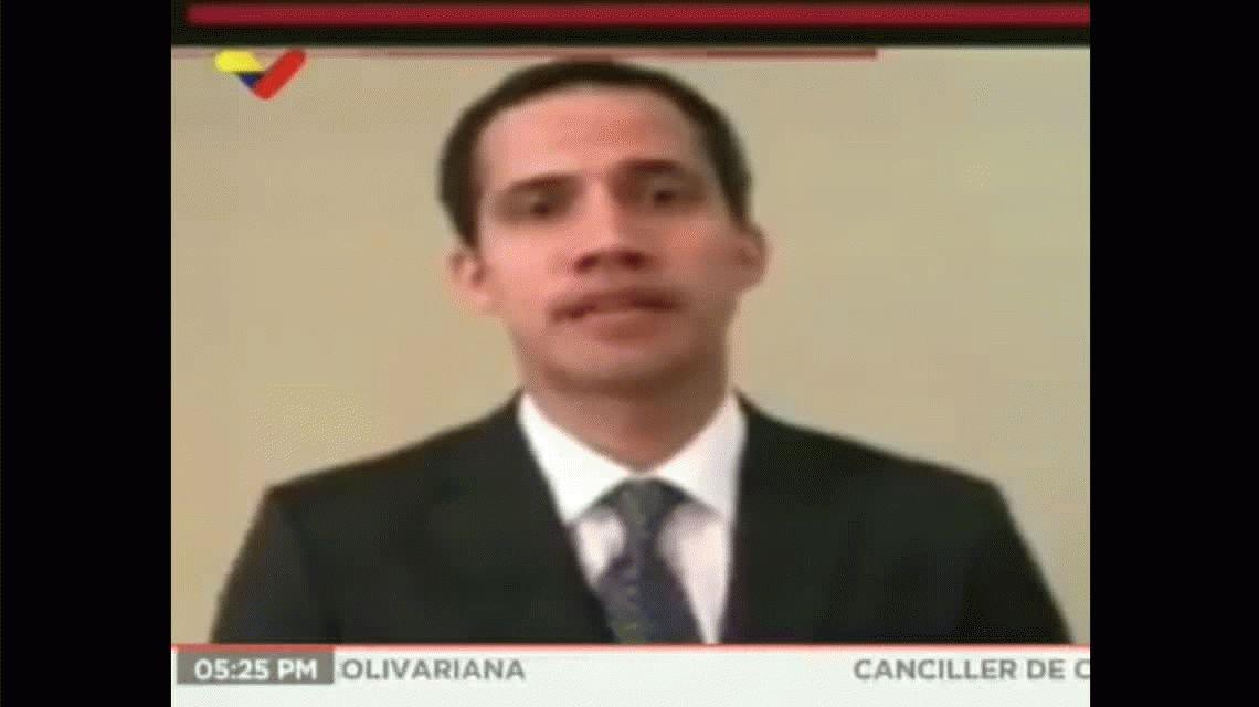 Un ministro mostró un video de una presunta reunión entre Guaidó y el vice de Maduro