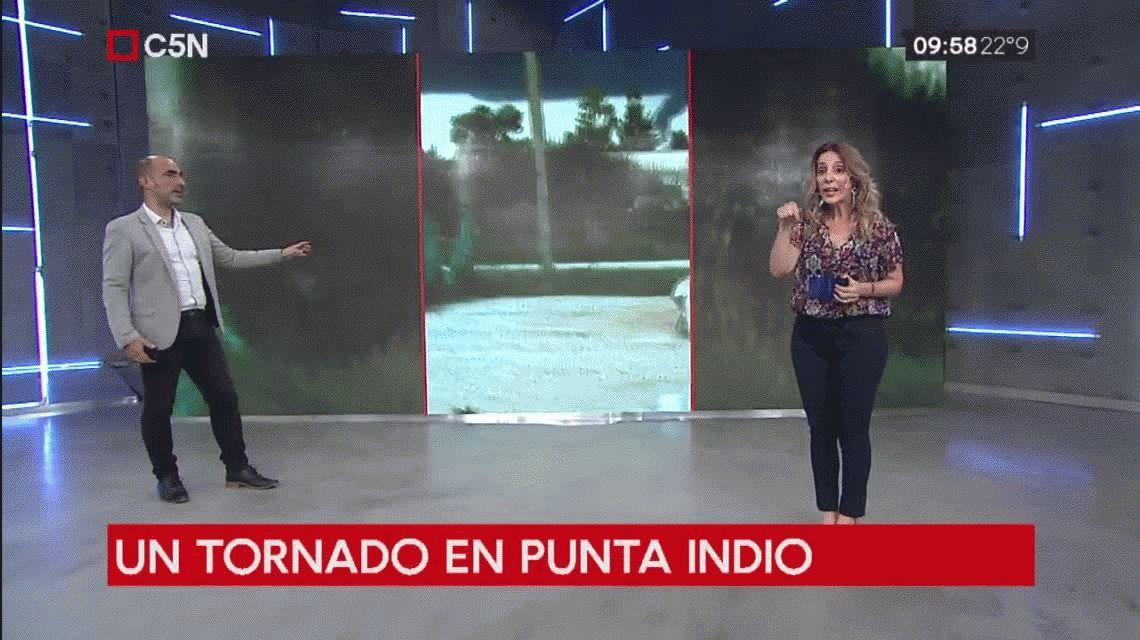 Un tornado atravesó Punta Indio y asustó a sus habitantes