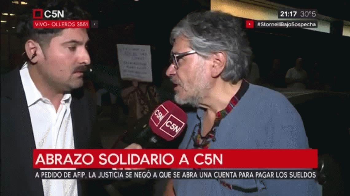 Abrazo solidario a C5N