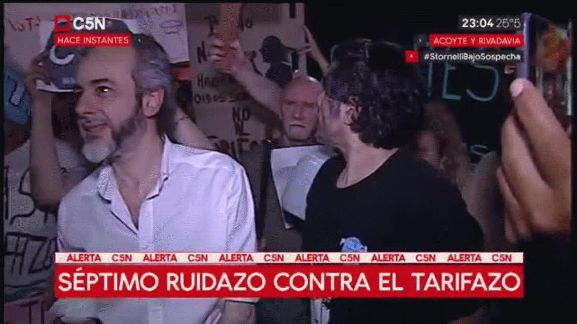 Séptimo ruidazo nacional contra el tarifazo y el ajuste del gobierno de Mauricio Macri