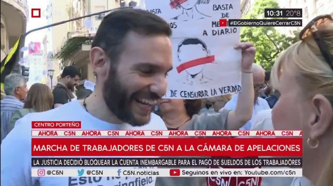 La emoción de Nicolás Munafó, periodista de C5N: Es muy fuerte este acompañamiento