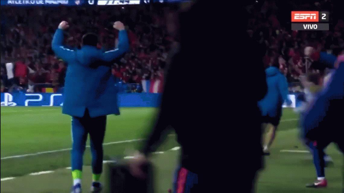 Insulto al árbitro y manos en los genitales: Simeone vivió con intensidad el Atlético - Juventus