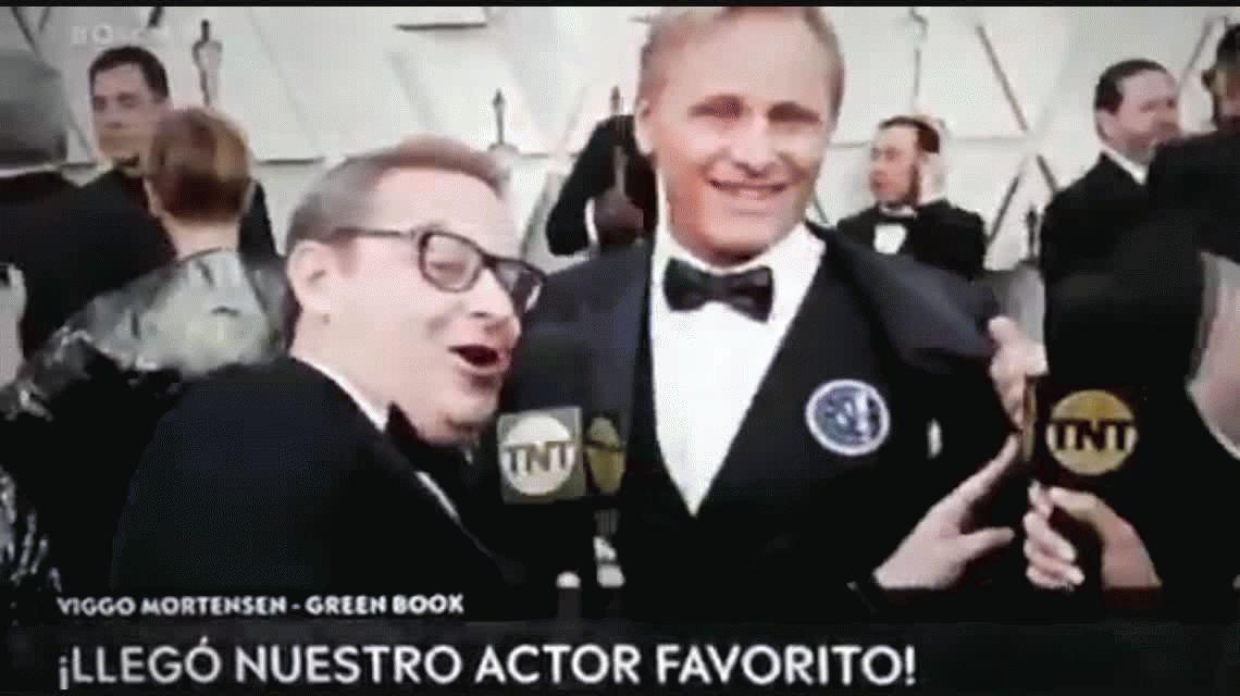 VIDEO: Viggo Mortensen llevó a San Lorenzo a los premios Oscar