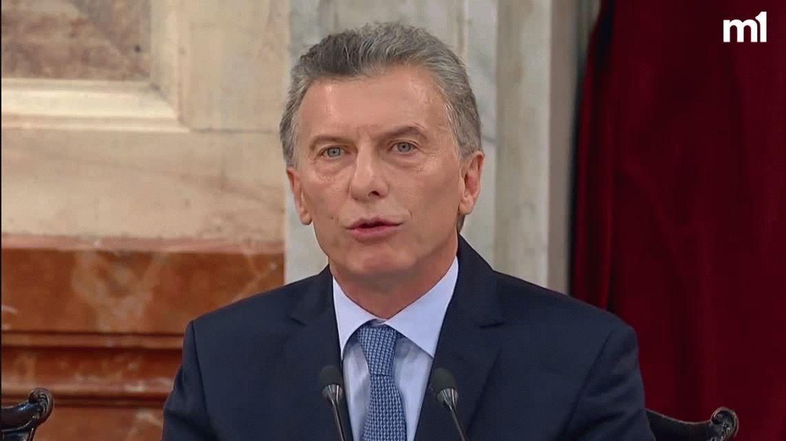 Macri, en la Asamblea Legislativa: Bajó la pobreza y creció la economía