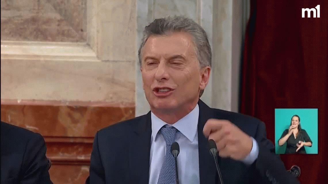 El cierre futbolero de Macri en el Congreso: ¡Vamos argentinos!