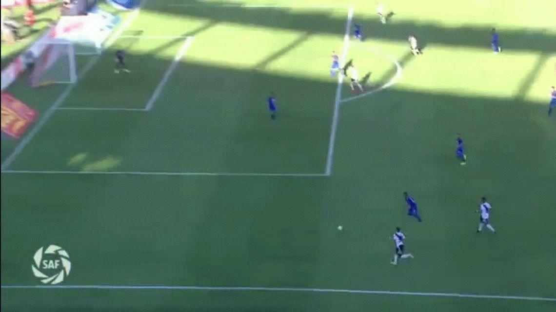 Hernán López, el sobrino de Maradona, debutó en River con un gol