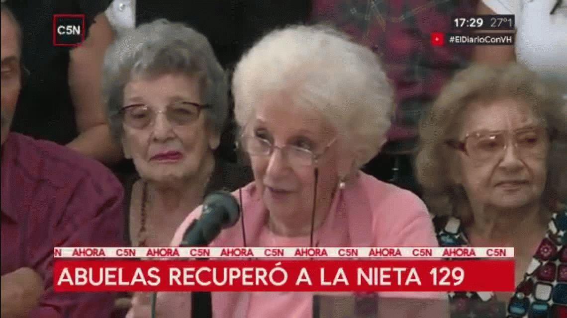 Abuelas encontró a la nieta 129: Las numeramos para darnos fuerzas con el número que va aumentando