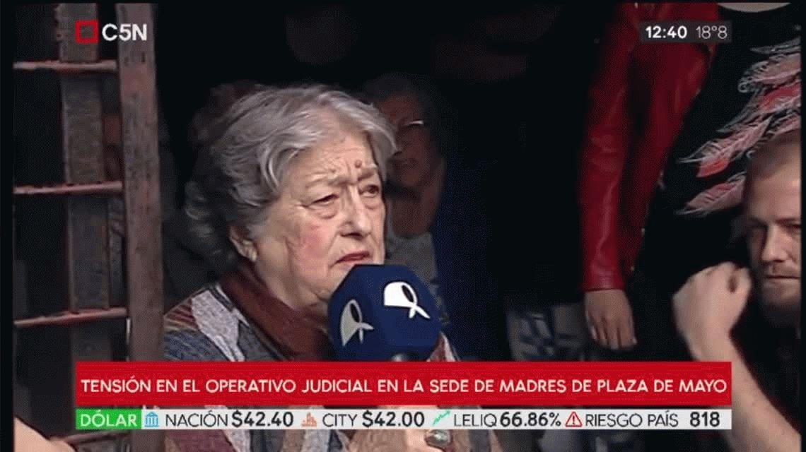 Hebe de Bonafini, tras el intento de allanamiento en la sede de Madres: No nos van a callar