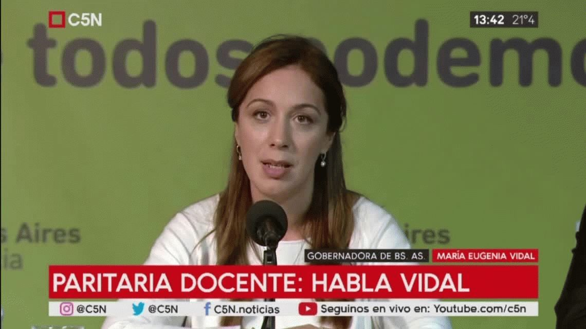 Vidal, sobre la paritaria docente: Dejamos atrás un conflicto con los gremios y alcanzamos un acuerdo