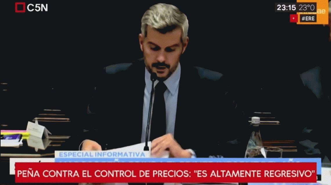 Marcos Peña contra el control de precios: Es altamente regresivo