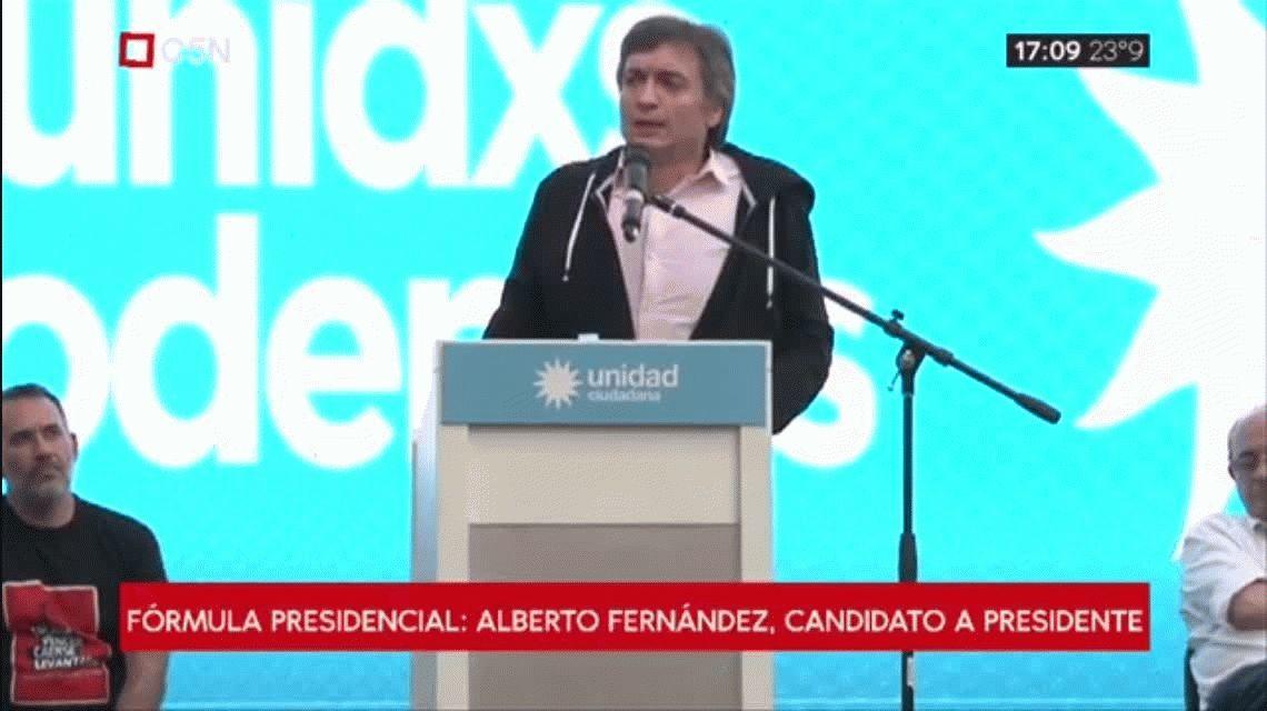 Máximo Kirchner: Que una mujer pudiendo volver a ser presidenta deje el lugar es un ejemplo