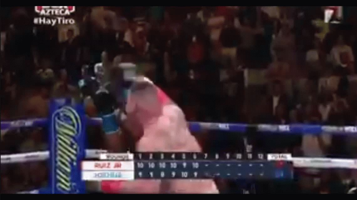 VIDEO: ¡Quiero llorar gordo hermoso!: la emoción del comentarista mexicano por el batacazo de Andy Ruiz