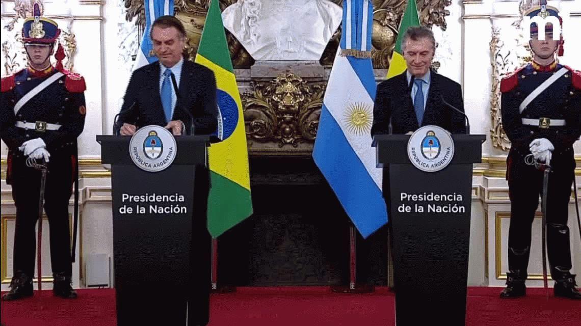 Bolsonaro, en su primera visita al país: Con Macri compartimos los mismos ideales