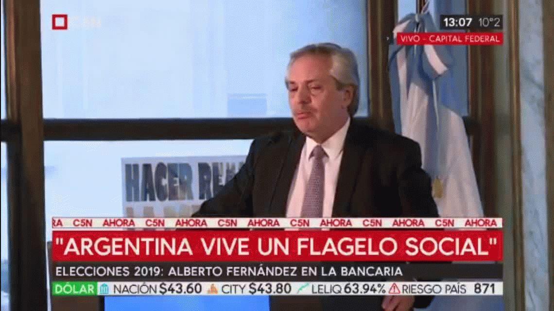 Alberto Fernández: Argentina así es invivible, inmoral e indecente
