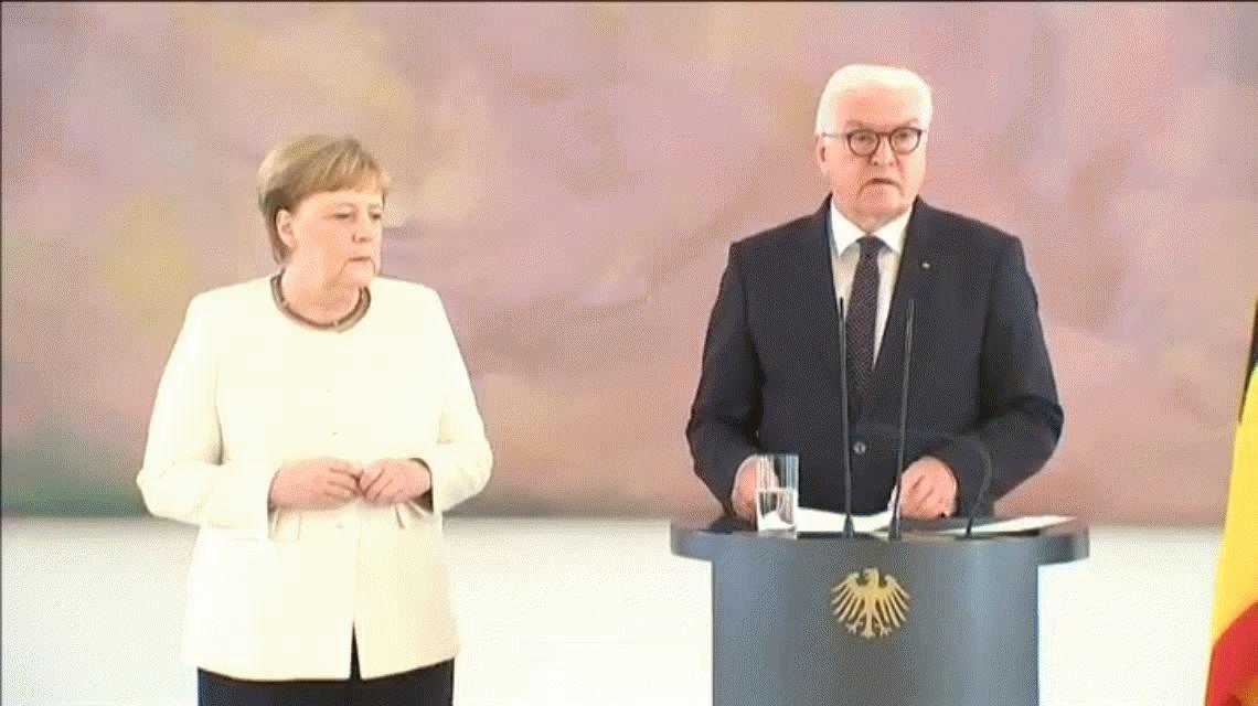 Berlín: Angela Merkel volvió a temblar