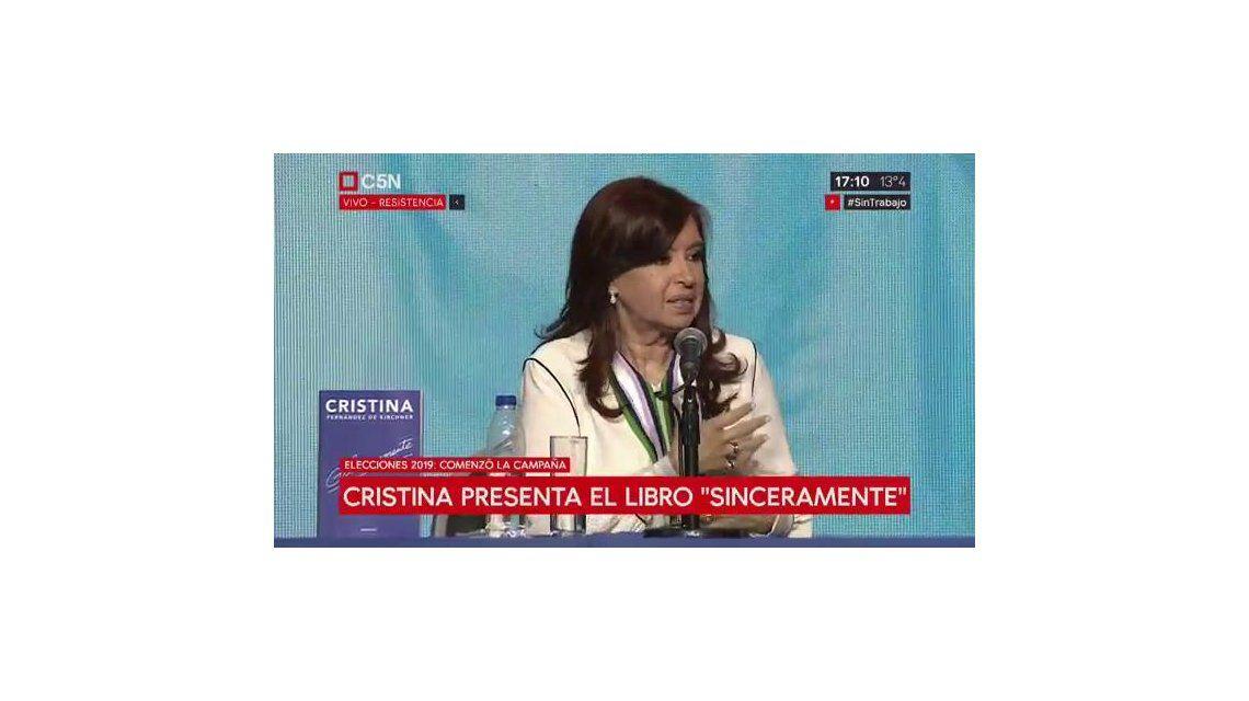Cristina: Los políticos no son todos iguales porque con algunos la gente comía y con otros no