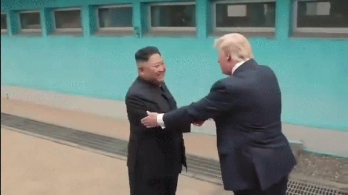 VIDEO: Así ingresó Donald Trump a Corea del Norte
