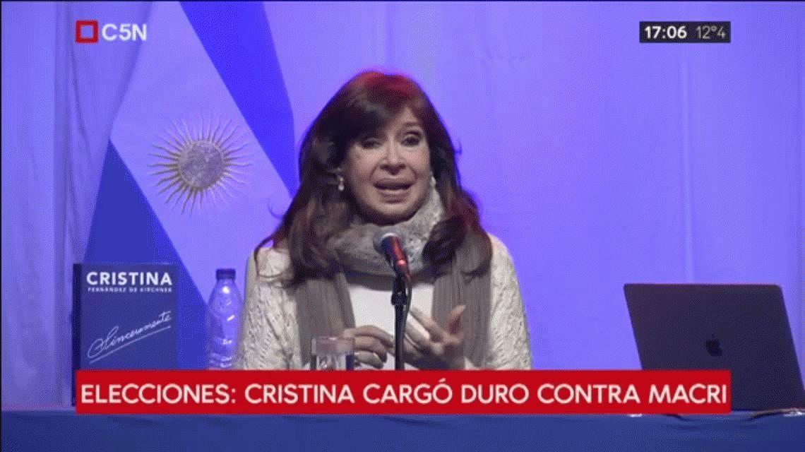 Cristina denunció violencia en la campaña y arremetió contra la reforma laboral de Macri