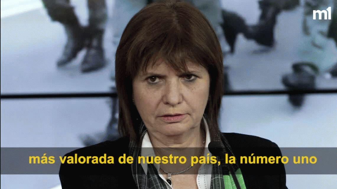 Patricia Bullrich: Gendarmería es la institución más valorada del país, más que la educación pública
