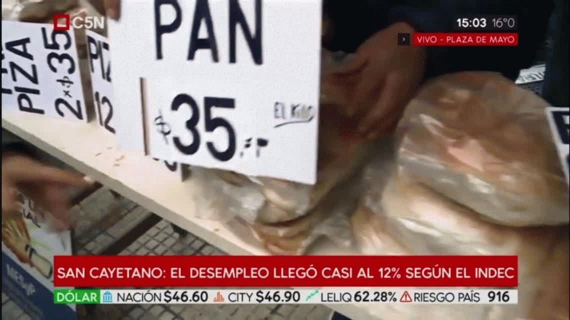 Vendieron pan a $35 el kilo durante el panazo en el Congreso