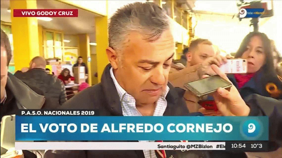 PASO 2019: Alfredo Cornejo se olvidó el DNI y no pudo votar