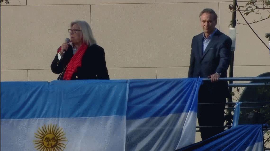Marcha en apoyo a Mauricio Macri: la frase de Carrió que provocó rechazo