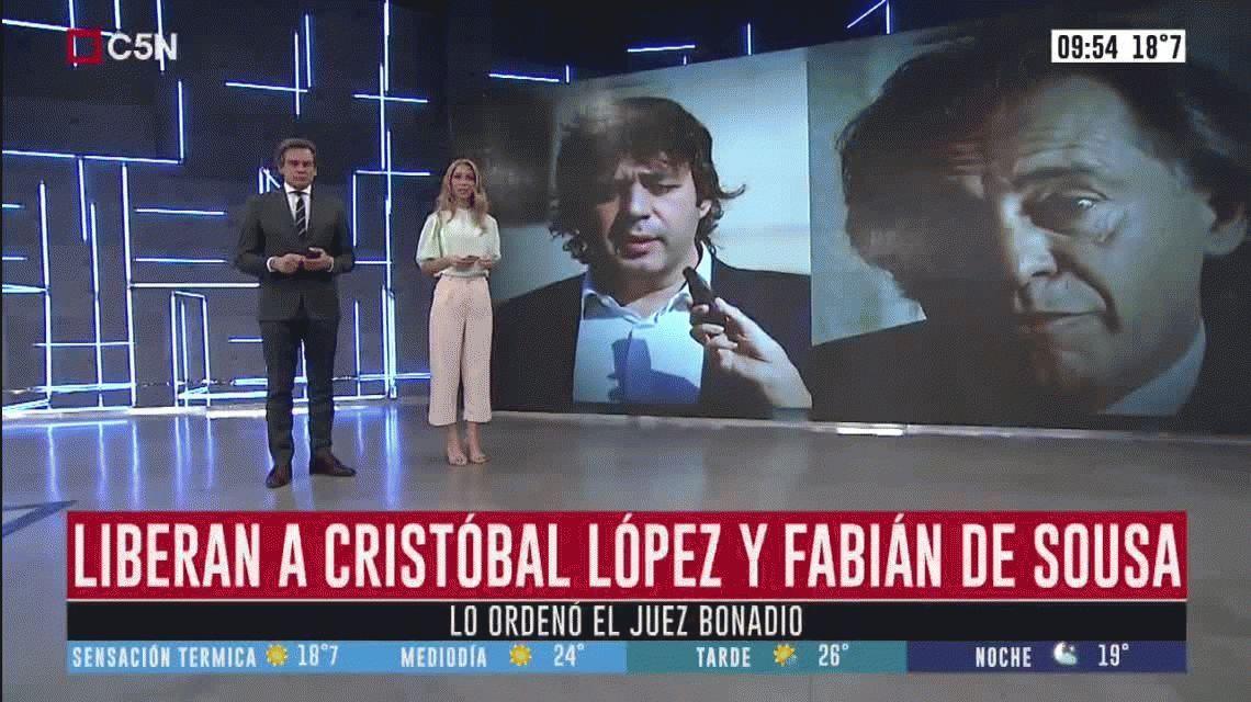 El juez Claudio Bonadio ordenó liberar a Cristóbal López y Fabián de Sousa
