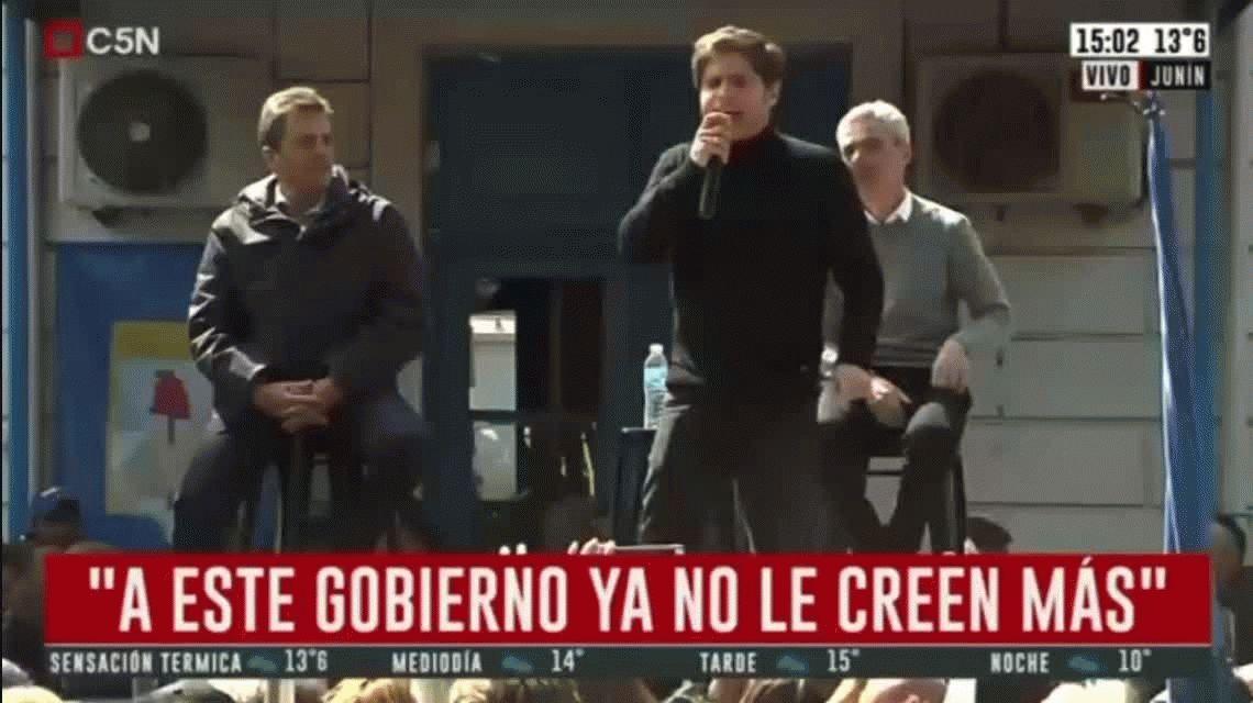 Kicillof cruzó a Macri y denunció una campaña sucia del Presidente