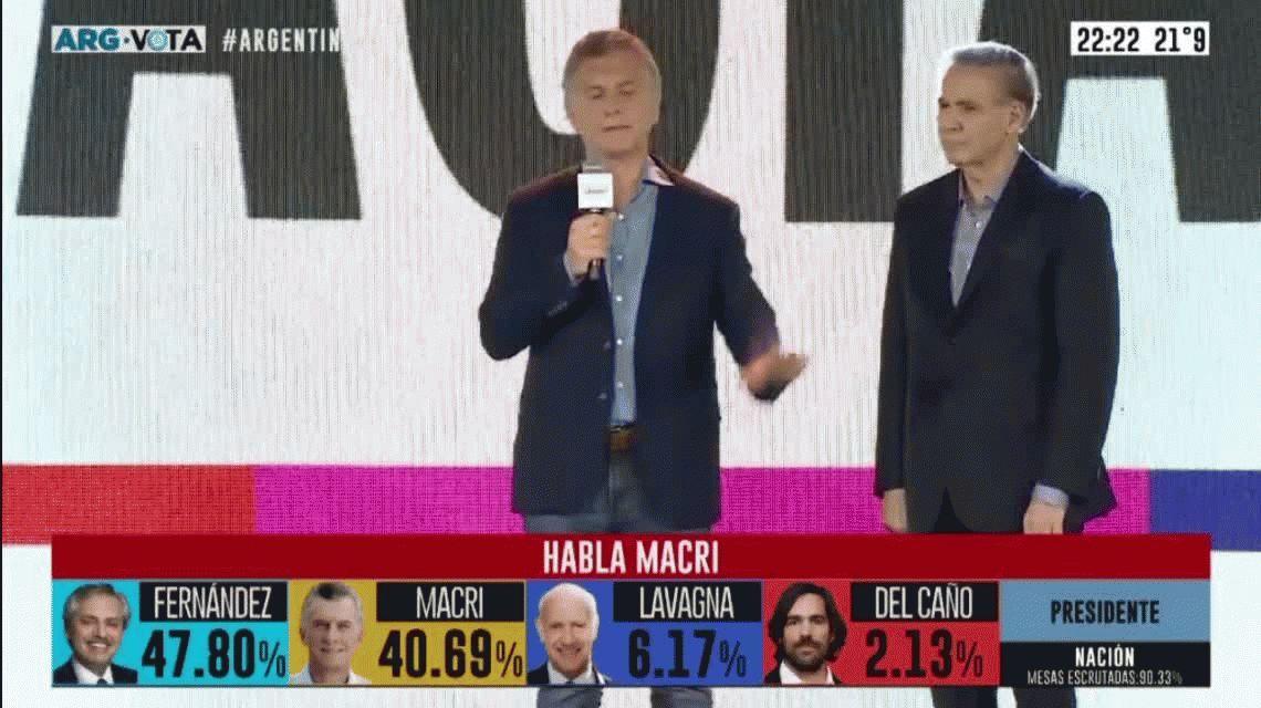 Macri, tras la derrota: intentó mostrarse calmo pero su cuerpo reflejó pesimismo