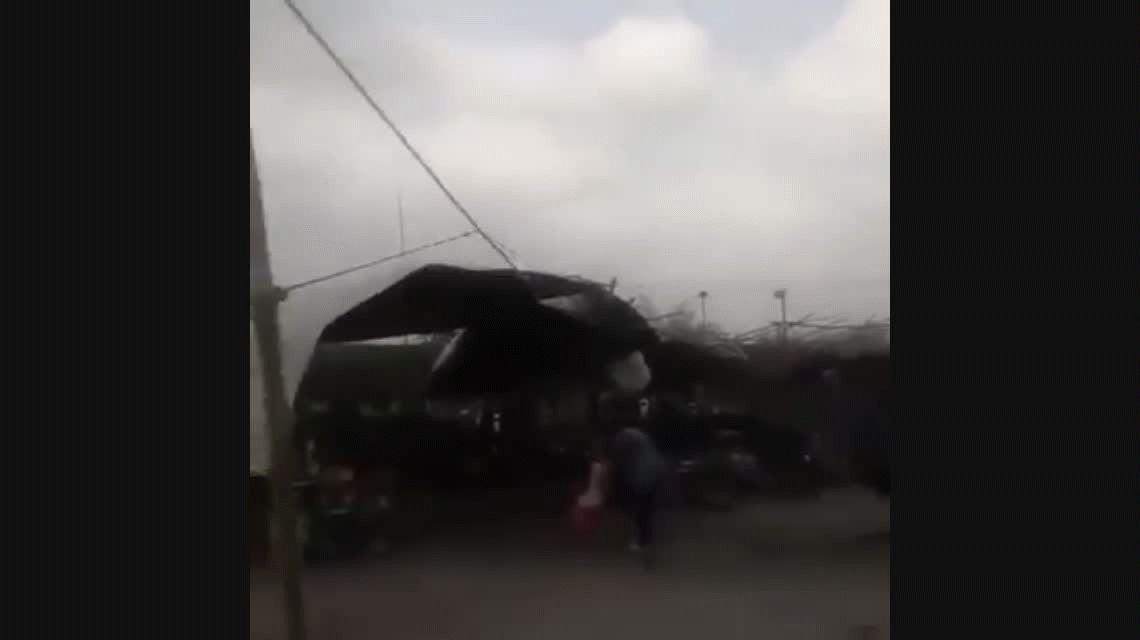 Tucumán: un fuerte temporal azotó al sur de la provincia