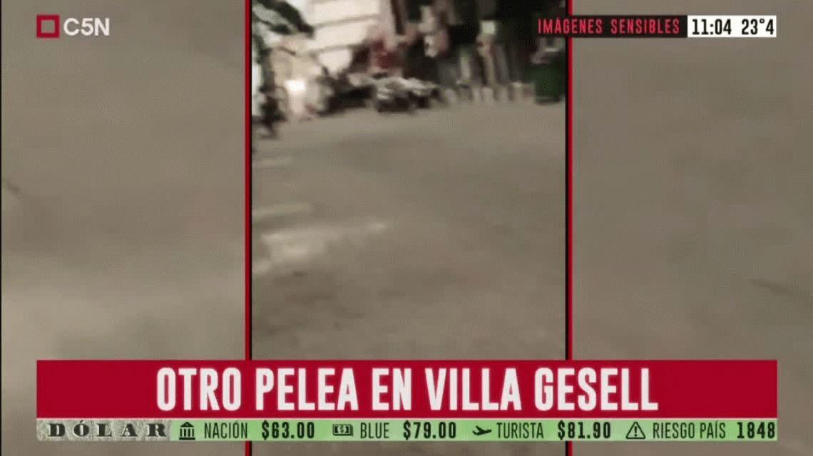 VIDEO: Otra violenta batalla campal entre jóvenes en Villa Gesell