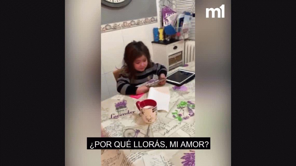 Desgarrador: la hija del goleador argentino Chimy Ávila se quiebra por la lesión de su papá