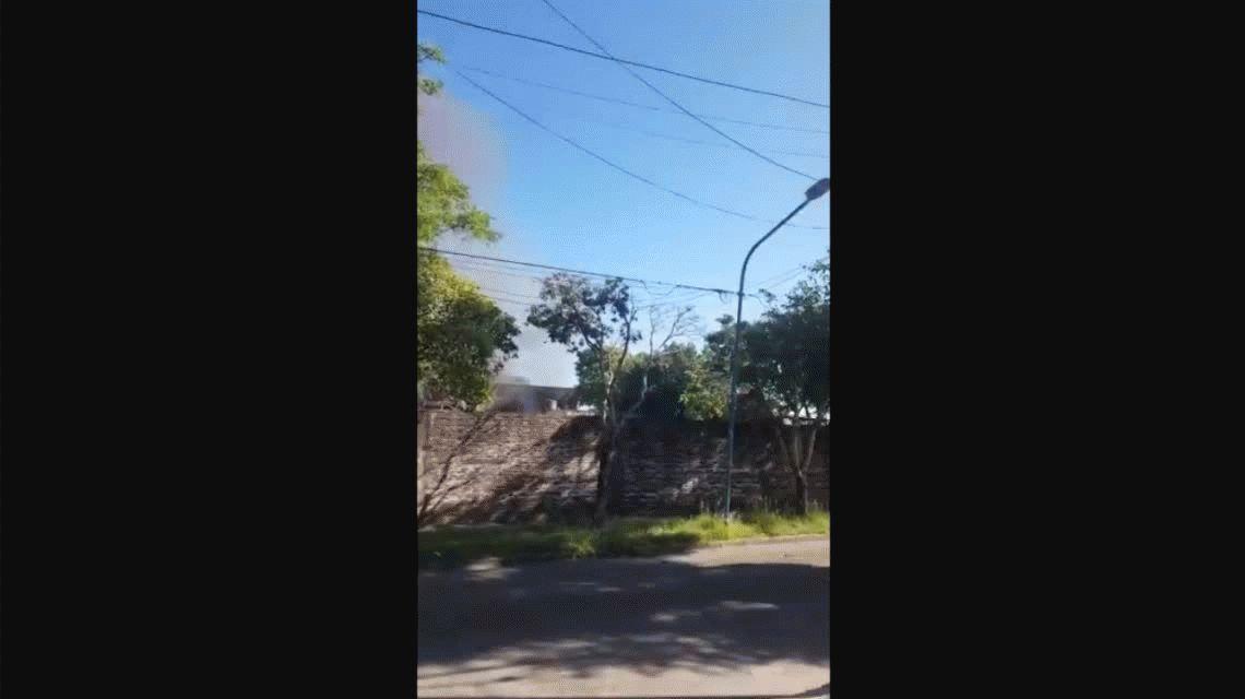 Se incendió una fábrica de ceras en Munro