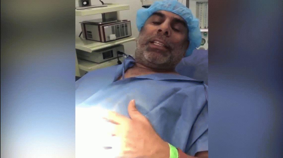 El insólito video que grabó Chicho Serna desde el quirófano: se hizo la vasectomía