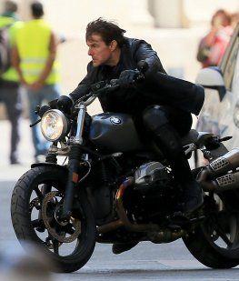 Tom Cruise en el set de filmación de Misión Imposible 6