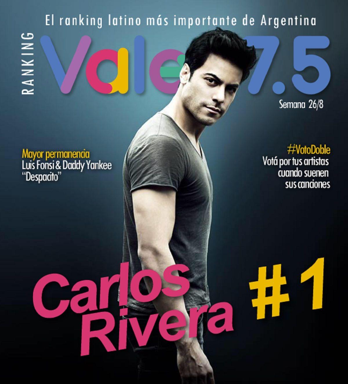 Carlos Rivera y Gente de zona, imparables en el Ranking Vale