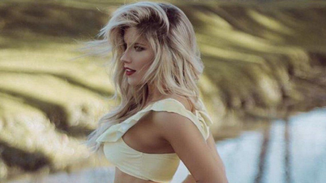 Laurita Fernández posó sexy
