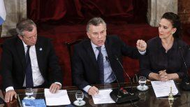 Emilio Monzó, Mauricio Macri y Gabriela Michetti