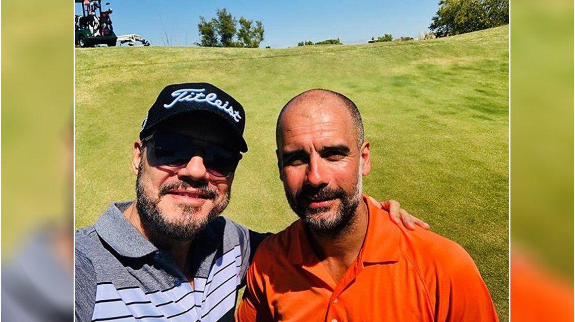Marcelo Tinelli y Pep Guardiola jugaron al golf