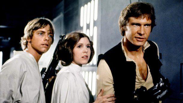 <p>Luke Skywalker, la princesa Leia y Han Solo</p>