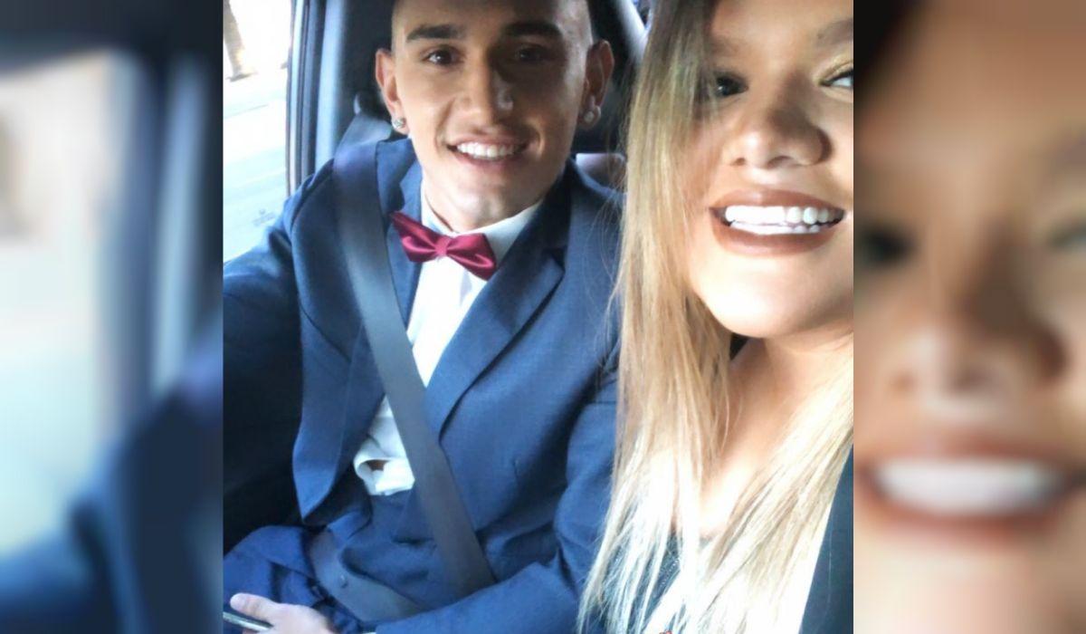 El look de Morena para el casamiento de Jorge Rial y Romina Pereiro