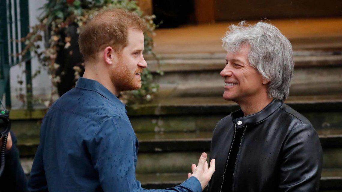 El Príncipe Harry y Bon Jovi