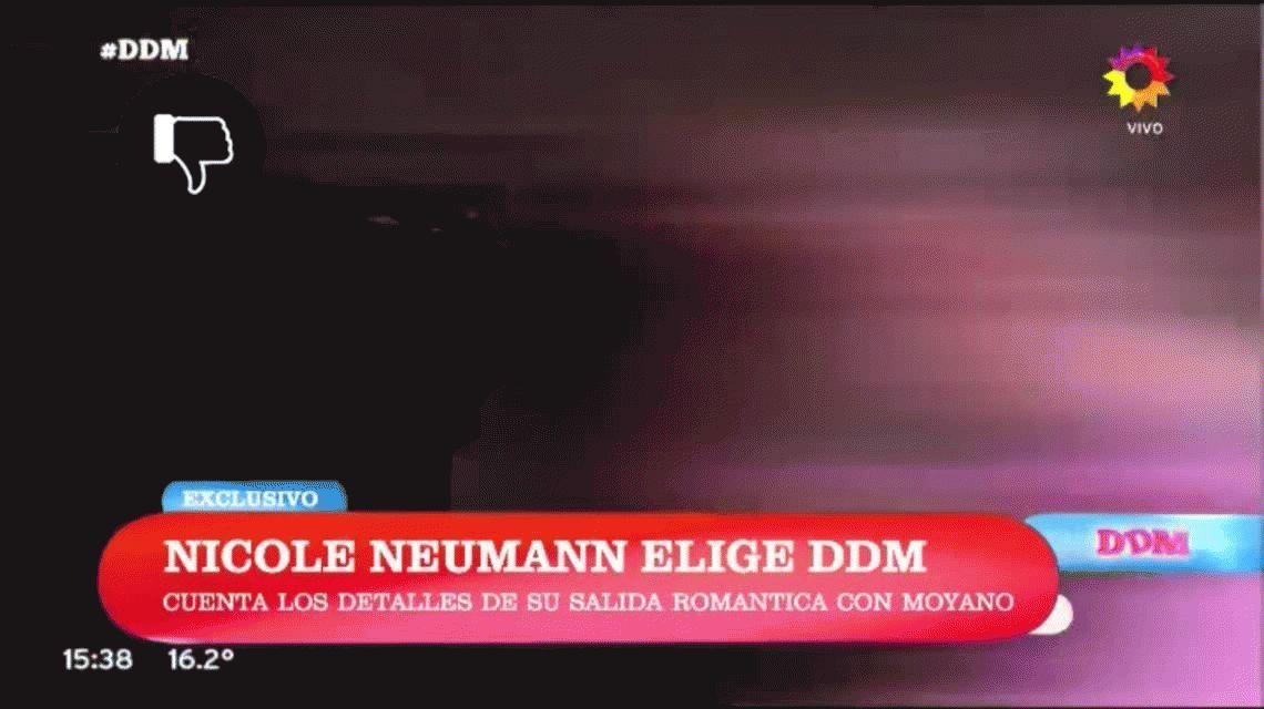 Nicole Neumann: Hasta donde sé, Facundo Moyano estaba solo