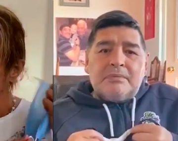 Caniggia se sumó a la campaña de Maradona